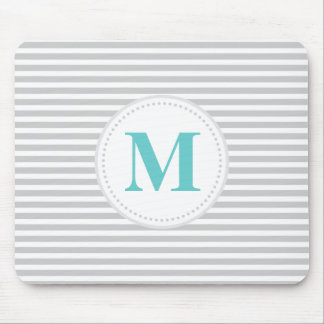 Gray Skinny Stripe Mouse Pad