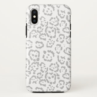 Gray Snow Leopard Cat Animal Print Case-Mate iPhone Case