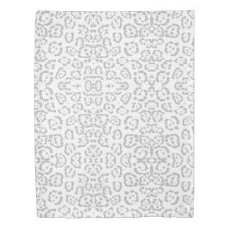 Gray Snow Leopard Cat Animal Print Duvet Cover