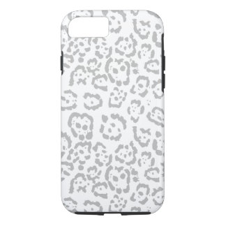 Gray Snow Leopard Cat Animal Print iPhone 8/7 Case
