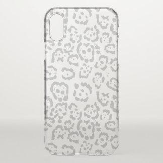 Gray Snow Leopard Cat Animal Print iPhone X Case