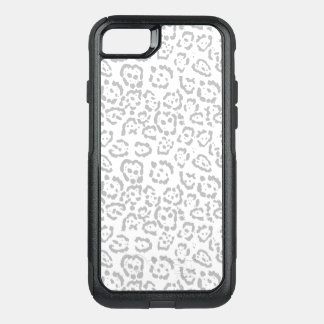Gray Snow Leopard Cat Animal Print OtterBox Commuter iPhone 8/7 Case