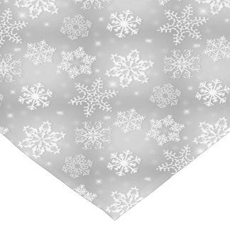 Gray Snowflake pattern table runner