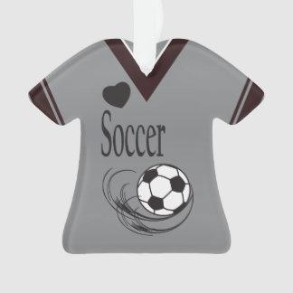 Gray Soccer Ball Shirt Ornament