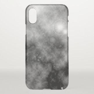 Gray Space Nebula and Supernova iPhone X Case