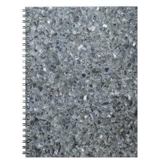 Gray Sparkle Glass Notebook