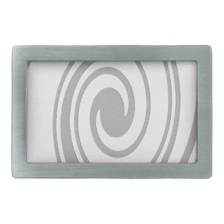 Gray Spiral Pattern Flowing Left to Right Belt Buckle