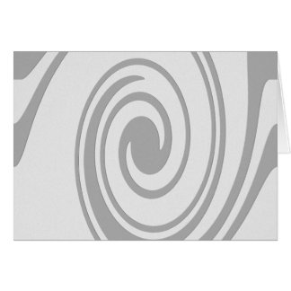 Gray Spiral Pattern Flowing Left to Right Card