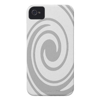 Gray Spiral Pattern Flowing Left to Right Case-Mate iPhone 4 Case