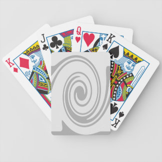 Gray Spiral Pattern Flowing Left to Right Poker Deck