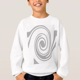 Gray Spiral Pattern Flowing Left to Right Sweatshirt