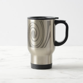 Gray Spiral Pattern Flowing Left to Right Travel Mug