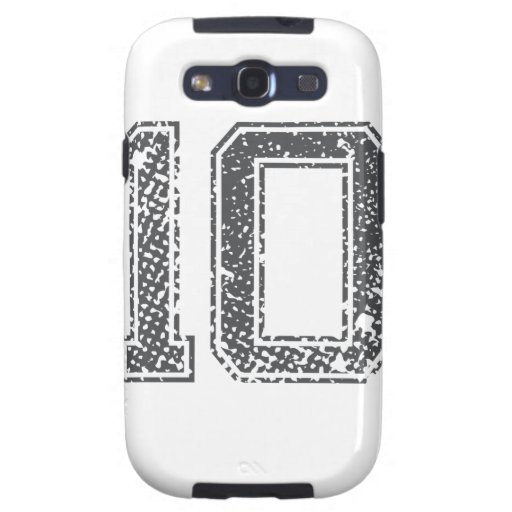 Gray Sports Jersey #10 Galaxy S3 Covers