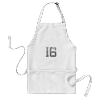 Gray Sports Jersey #16 Aprons