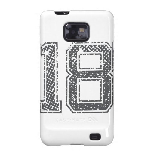 Gray Sports Jersey #18 Samsung Galaxy SII Cover
