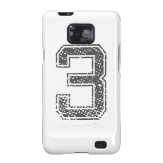 Gray Sports Jersey #3 Samsung Galaxy SII Cases