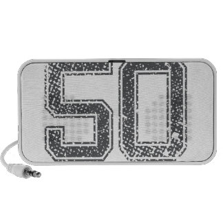 Gray Sports Jersey #50 Travel Speakers