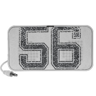 Gray Sports Jersey #56 Mini Speakers