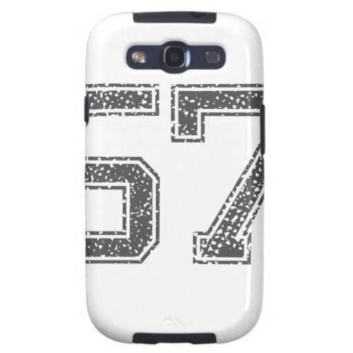 Gray Sports Jersey #57 Galaxy S3 Case