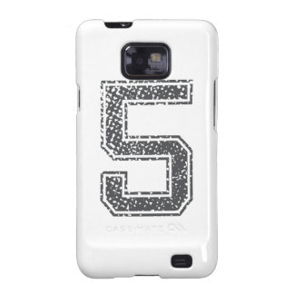 Gray Sports Jersey #5 Galaxy SII Cases