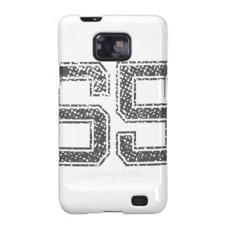 Gray Sports Jersey #65 Galaxy S2 Cover
