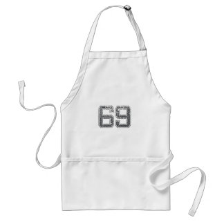 Gray Sports Jersey #69 Standard Apron