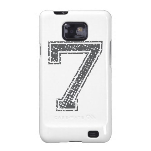Gray Sports Jersey #7 Samsung Galaxy S2 Covers