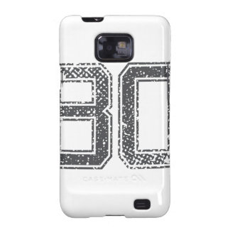 Gray Sports Jersey #80 Samsung Galaxy SII Case