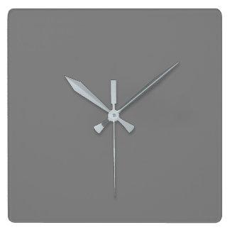 Gray Square Wall Clock
