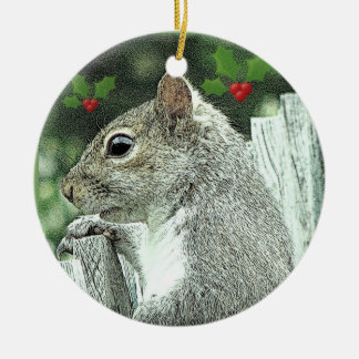 Gray Squirrel Christmas Ornament 2017
