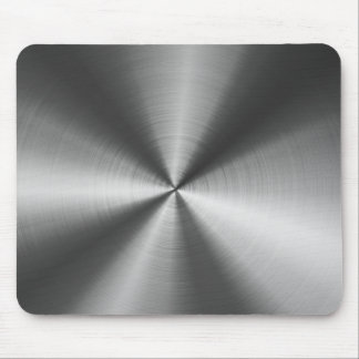 Gray Stainless Steel Look Metal Pattern Mouse Pad Mouse Pad