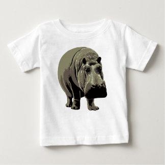 Gray Standing Hippopotamus Baby T-Shirt