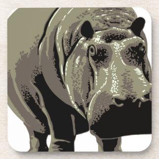Gray Standing Hippopotamus Coaster