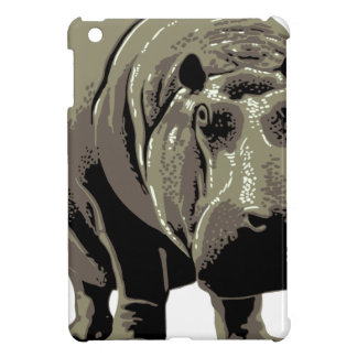 Gray Standing Hippopotamus Cover For The iPad Mini