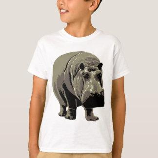 Gray Standing Hippopotamus T-Shirt