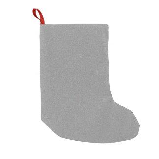 Gray Star Dust Small Christmas Stocking