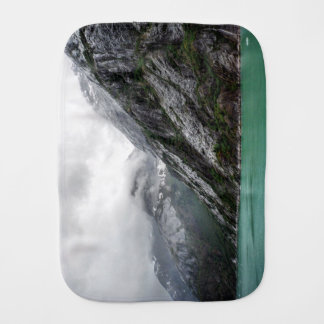 Gray Stone Mountain Burp Cloth