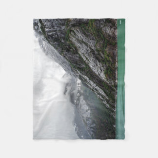 Gray Stone Mountain Fleece Blanket