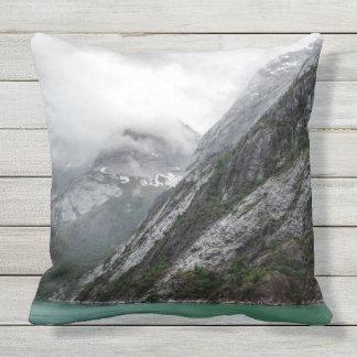 Gray Stone Mountain Throw Pillow