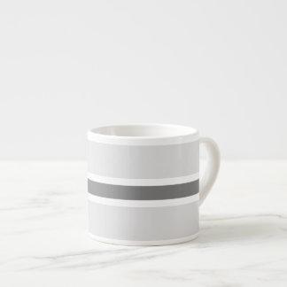 Gray Stripe Espresso Cup