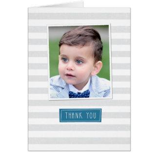 Gray Stripe Thank You Card