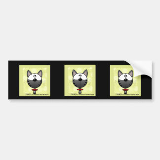 Gray Striped Kitty Bumper Sticker