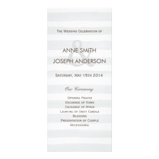 Gray stripes wedding program