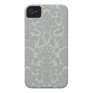 Gray Subtle Embossed Style Damask Iphone 4 4S Case iPhone 4 Covers