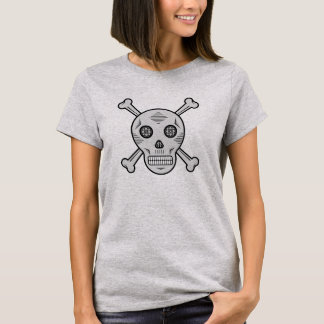 Gray Sugar skull and bones T-Shirt