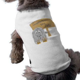 Gray support the arts dog tee