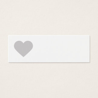 Gray Sweet Heart & Chevron Gift Tags Mini Business Card