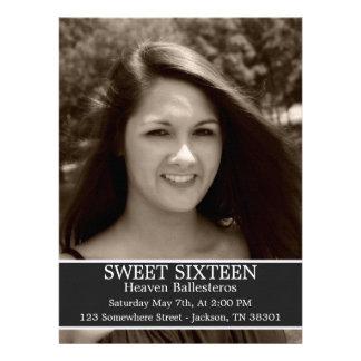Gray Sweet Sixteen Birthday Invites 6 5 x 8 7