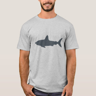 Gray Swimming Shark T-Shirt