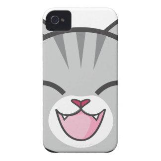 Gray Tabby Cat Cartoon iPhone 4 Covers